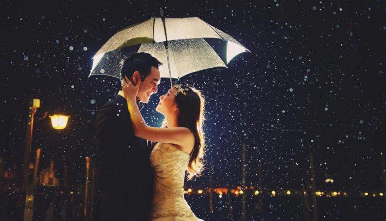 Chụp ảnh cưới dưới mưa lãng mạn, quyến rũ lạ kì