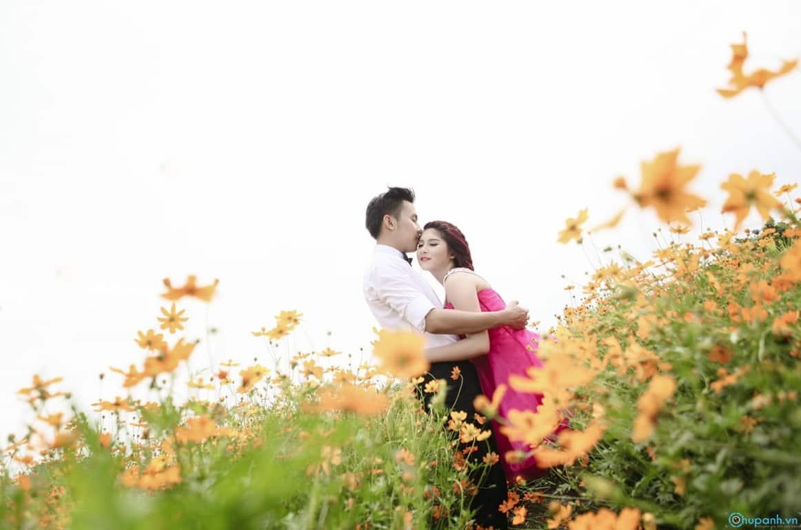 2. Chụp ảnh cưới tại vườn hoa