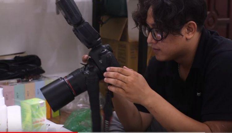 Hậu trường chụp ảnh sản phẩm mỹ phẩm Ngân Bình
