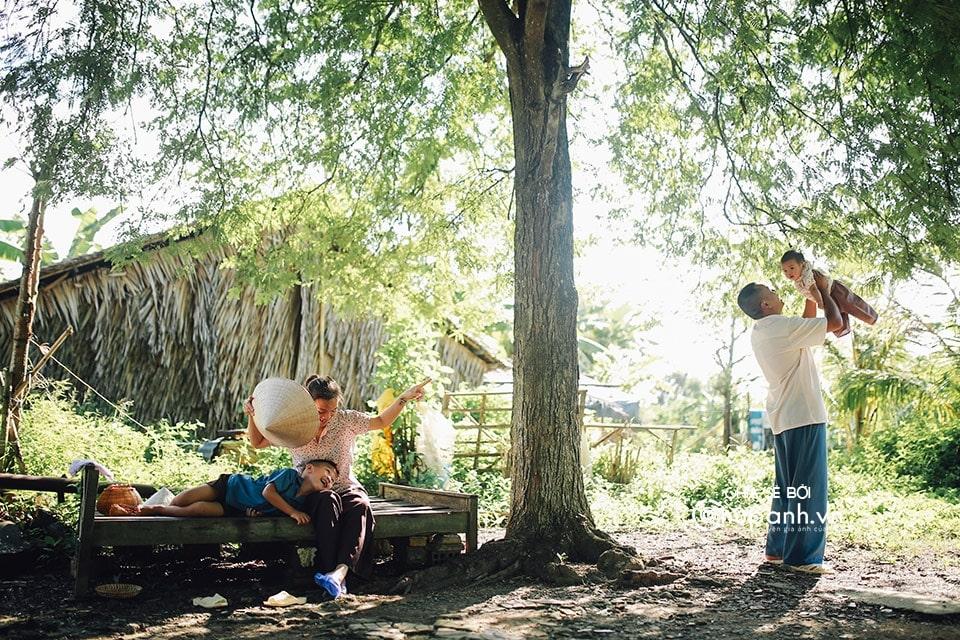 Concept chụp ảnh gia đình phong cách nông dân GĐ006