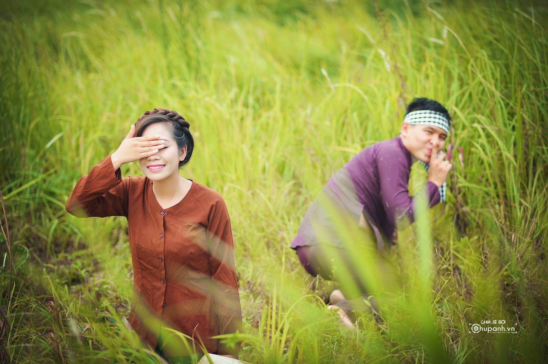 Concept chụp ảnh gia đình phong cách nông dân GĐ007