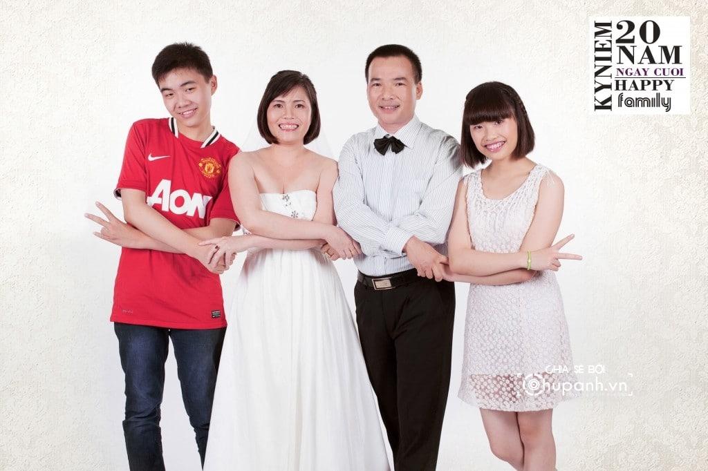 Concept chụp ảnh gia đình theo phong cách ảnh cưới GĐ010