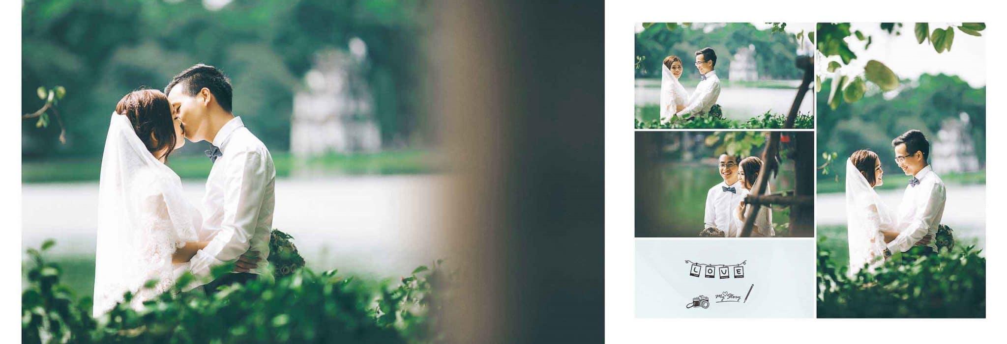 Bờ hồ Hoàn Kiếm là lựa chọn tuyệt vời cho những cặp đôi